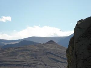 ...der erste schnelle Blick auf den Koenig der Berge, den Mount Everest