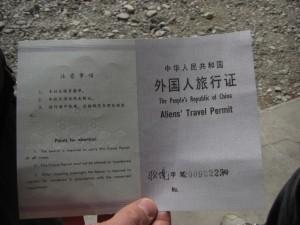 ...zum Thema Buerokratie - das Permit, das es uns erlaubte das Everestgebiet zu besuchen