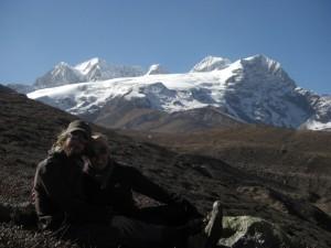 zum Abschied noch ein gemeinsames Foto mit dem Shishapagma....