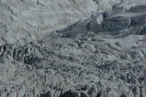 Faszinierend die Struktur des Gletscherbruchs