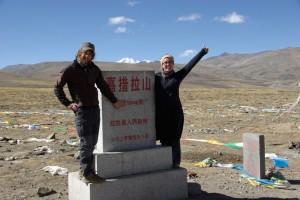 ...hahaaa, der hoechste Punkt der Reise 5300m...