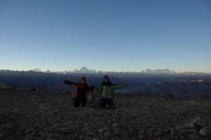 ...unser Kniefall vor so viel erhabener Bergwelt :-)