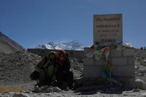 ... wir haben es geschafft - eines der schoensten und spektakulaersten Ziele unserer Reise - das Everest Basislager