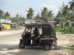 Die Hauptverkehrsmittel auf der Insel - Motorikschas