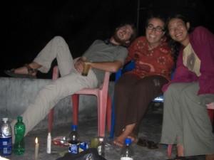 Abschied auch von Maya auf unserer Hotelterasse im Hauptort der Insel