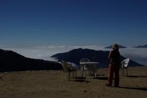 Das Nebelmeer machte die Rast bei den Lodges zu einem besonderen Erlebnis
