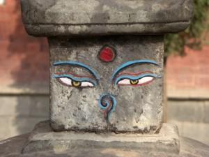 ..und man sieht auch einige recht schlichte Darstellungen der buddha- eyes