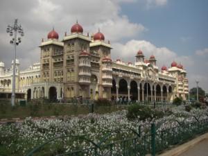 die schoene Palastanlage in Mysore
