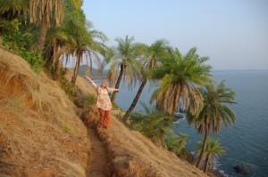 Abendsonne, Strand und Palmen - das sind die Kuesten von Gokarna