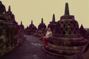 ...es gibt auch einsame Momente in denen wir den Tempel in der schoenen Stimmung (fast) fuer uns haben