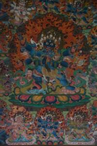ein Protektor - das erinnert wirklich total an die tibetischen Klostermalereien