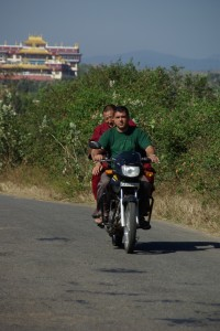 sieht doch ganz lustig aus, Moenche die Motorradfahren, oder?
